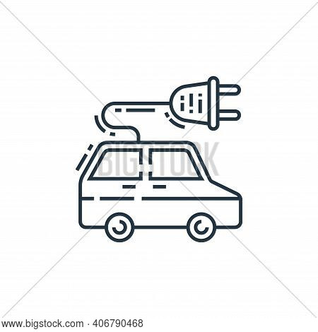 electric car icon isolated on white background from environment and eco collection. electric car ico