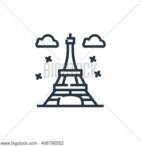 eiffel tower icon isolated on white background from world monument collection. eiffel tower icon thi