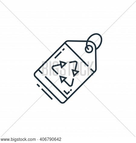 eco tag icon isolated on white background from environment and eco collection. eco tag icon thin lin