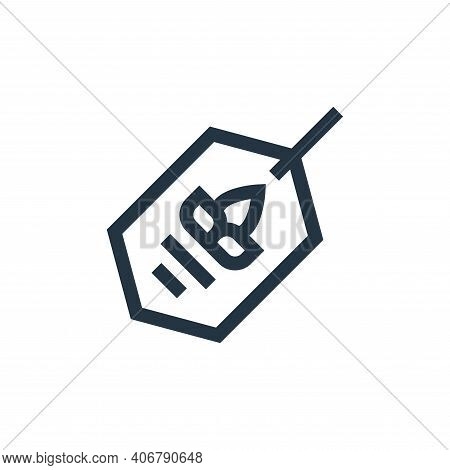 eco tag icon isolated on white background from mother earth day collection. eco tag icon thin line o
