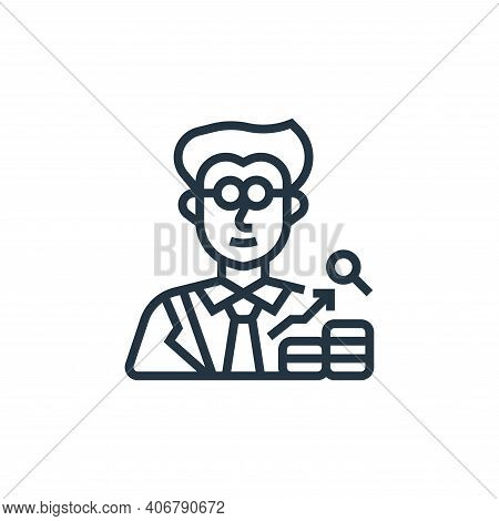 economist icon isolated on white background from economic crisis collection. economist icon thin lin