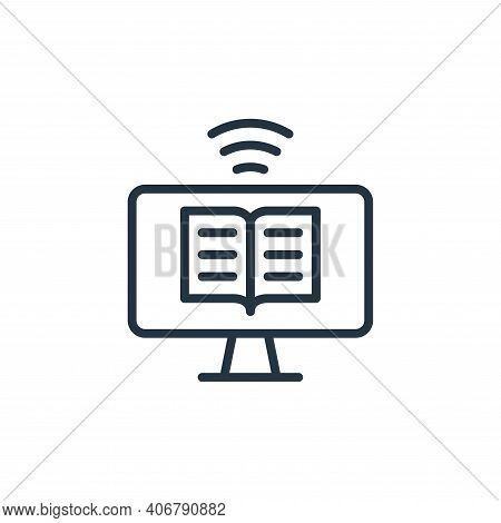 ebook icon isolated on white background from internet of things collection. ebook icon thin line out
