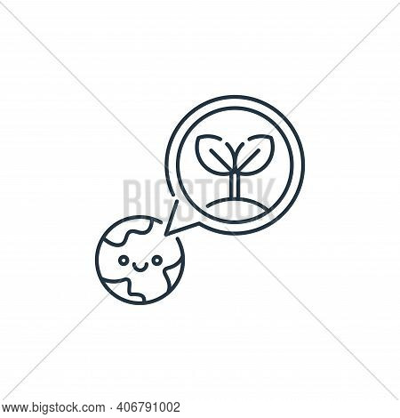 earth day icon isolated on white background from mother earth day collection. earth day icon thin li