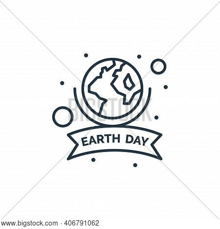 earth day icon isolated on white background from earth day collection. earth day icon thin line outl