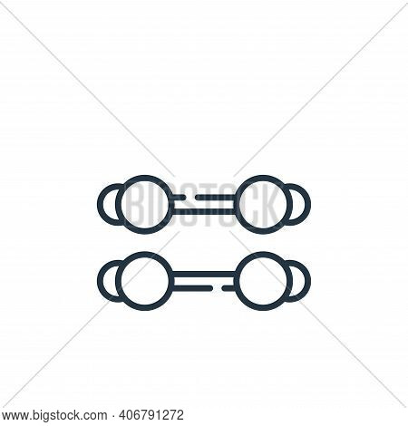 dumbbells icon isolated on white background from circus collection. dumbbells icon thin line outline