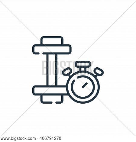dumbbell icon isolated on white background from free time collection. dumbbell icon thin line outlin