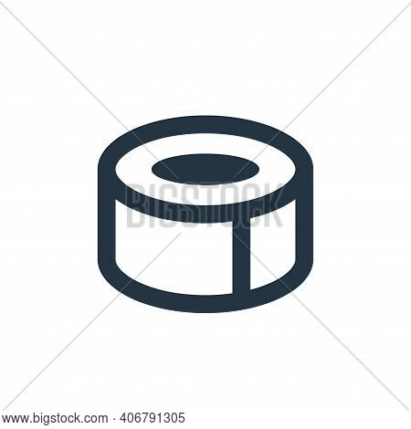 duct tape icon isolated on white background from office stationery collection. duct tape icon thin l