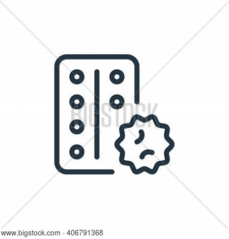 drugs icon isolated on white background from coronavirus collection. drugs icon thin line outline li