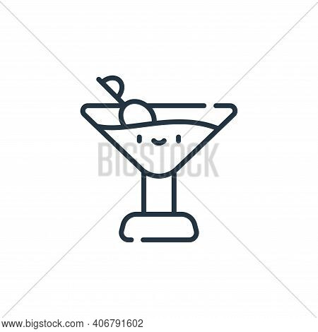 drink icon isolated on white background from italy collection. drink icon thin line outline linear d
