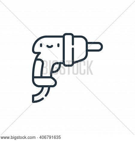 drill icon isolated on white background from electrician tools and elements collection. drill icon t