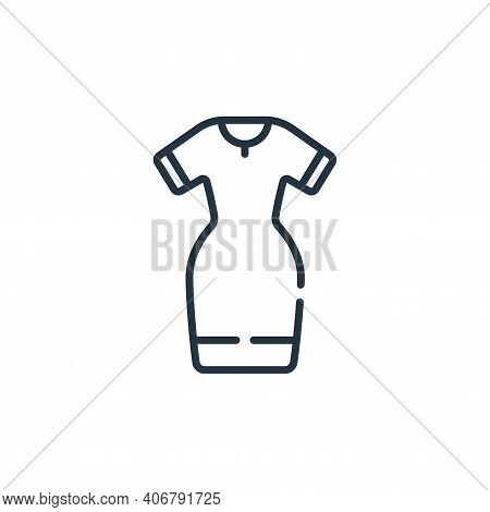dress icon isolated on white background from sewing collection. dress icon thin line outline linear