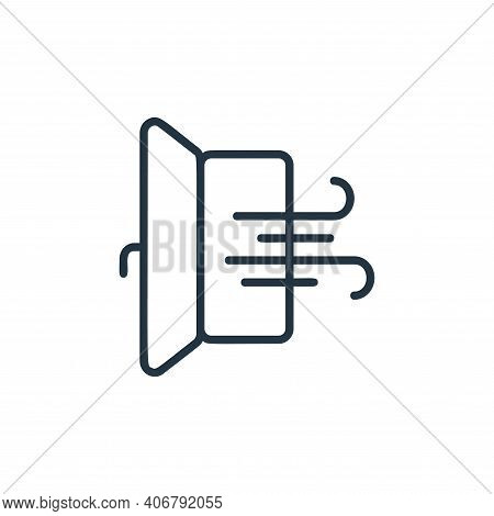 door icon isolated on white background from covid collection. door icon thin line outline linear doo