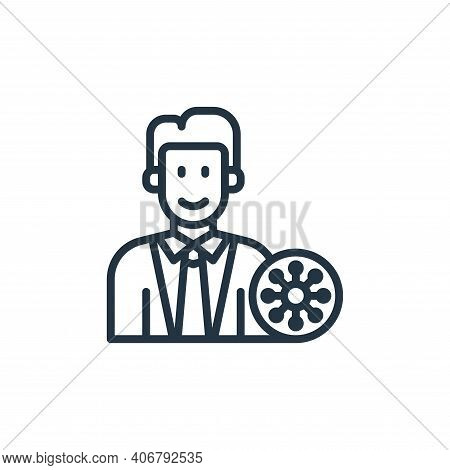 doctor icon isolated on white background from coronavirus collection. doctor icon thin line outline