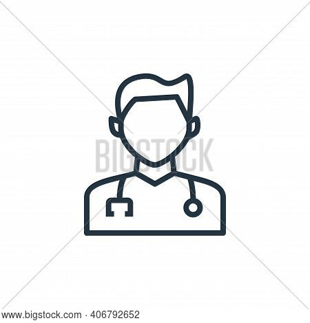 doctor icon isolated on white background from hospital collection. doctor icon thin line outline lin