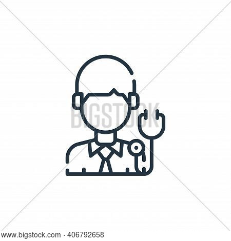 doctor icon isolated on white background from allergies collection. doctor icon thin line outline li
