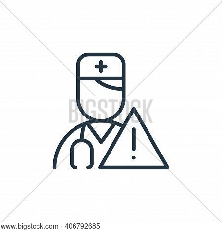 doctor icon isolated on white background from stop virus collection. doctor icon thin line outline l