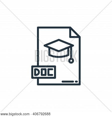 doc icon isolated on white background from elearning collection. doc icon thin line outline linear d