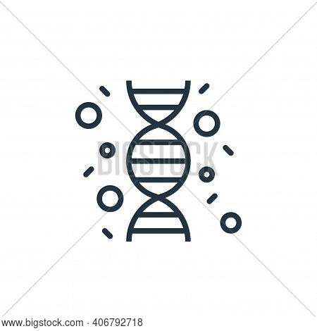 dna string icon isolated on white background from coronavirus collection. dna string icon thin line