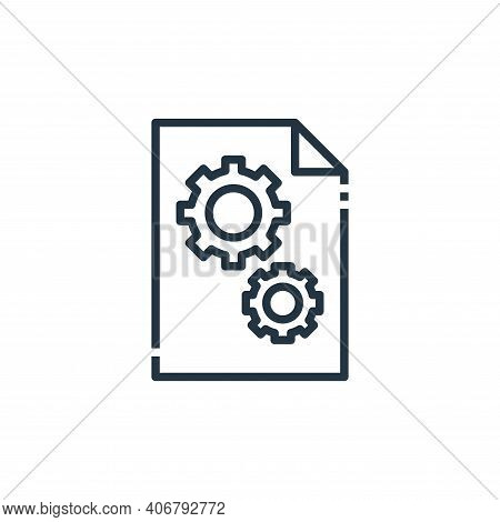 dll file icon isolated on white background from file type collection. dll file icon thin line outlin