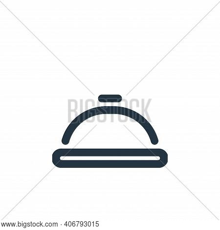 dish icon isolated on white background from travel collection. dish icon thin line outline linear di