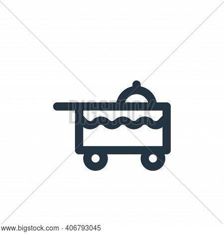 dish icon isolated on white background from holiday collection. dish icon thin line outline linear d