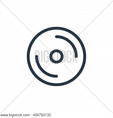 disc icon isolated on white background from technology collection. disc icon thin line outline linea