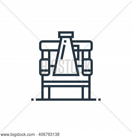 director chair icon isolated on white background from cinema collection. director chair icon thin li