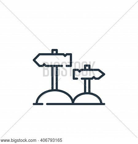 directions icon isolated on white background from desert collection. directions icon thin line outli