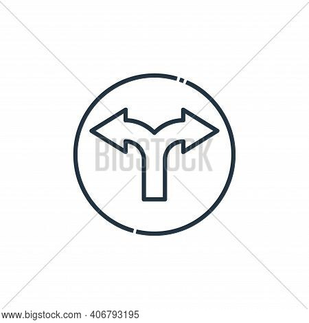direction icon isolated on white background from signaling collection. direction icon thin line outl