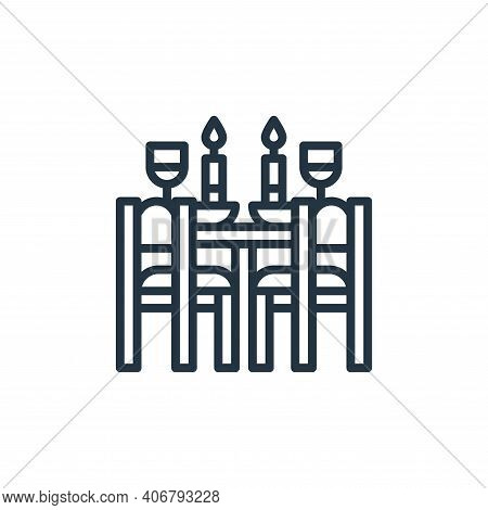 dinner icon isolated on white background from travel collection. dinner icon thin line outline linea