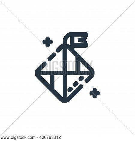 diamonds icon isolated on white background from ramadan kareem collection. diamonds icon thin line o