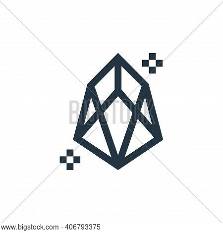 diamond icon isolated on white background from history collection. diamond icon thin line outline li