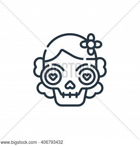 dia de muertos icon isolated on white background from mexico collection. dia de muertos icon thin li