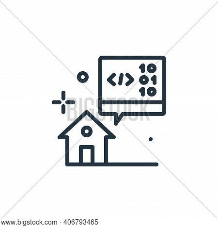 developer icon isolated on white background from work from home collection. developer icon thin line