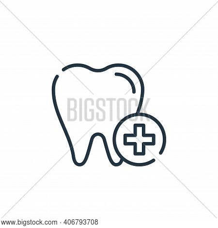 Dental care icon isolated on white background from dental care collection. Dental care icon thin lin