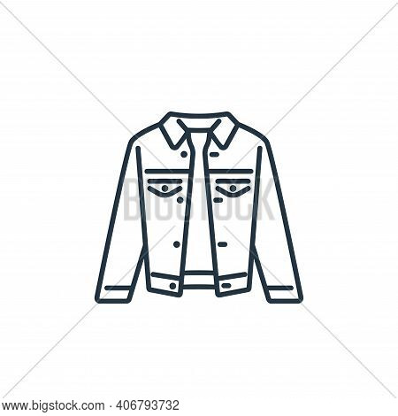 denim jacket icon isolated on white background from clothes and outfit collection. denim jacket icon