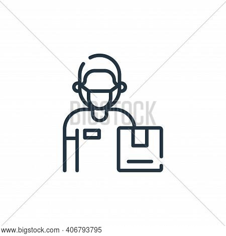 delivery man icon isolated on white background from delivery collection. delivery man icon thin line