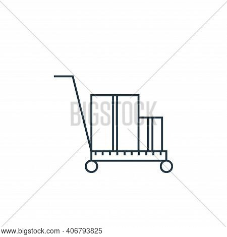 delivery cart icon isolated on white background from online shopping collection. delivery cart icon