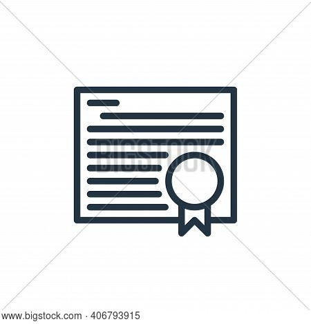 degree icon isolated on white background from school collection. degree icon thin line outline linea