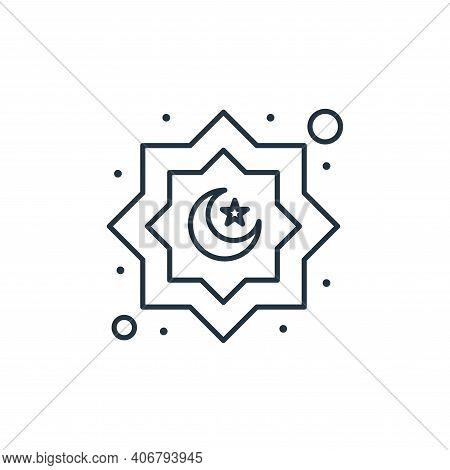 decoration icon isolated on white background from islam and ramadan collection. decoration icon thin