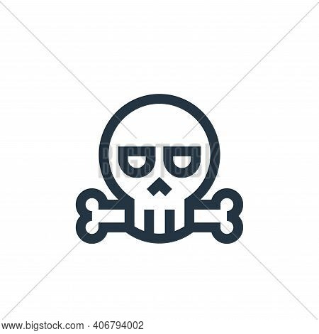 death icon isolated on white background from video game elements collection. death icon thin line ou