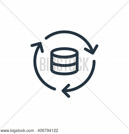 database icon isolated on white background from data transfer collection. database icon thin line ou
