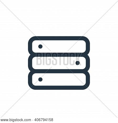 database icon isolated on white background from interface collection. database icon thin line outlin