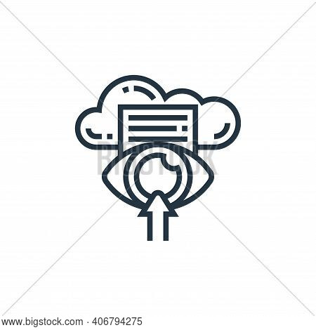 data icon isolated on white background from confidential information collection. data icon thin line