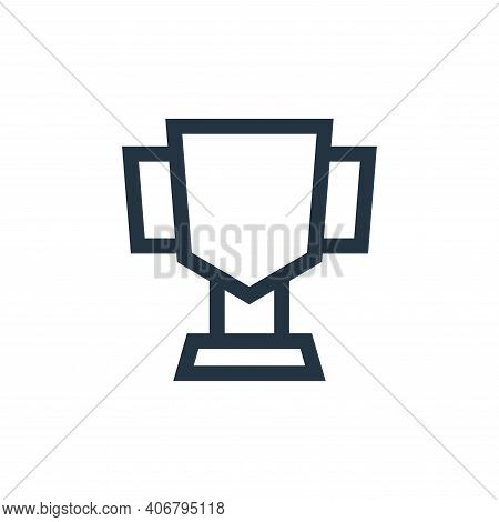 cup icon isolated on white background from video game elements collection. cup icon thin line outlin