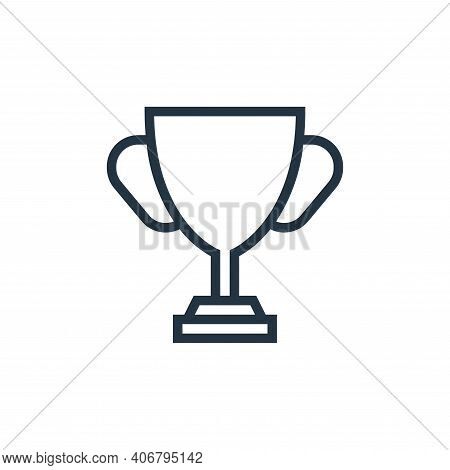 cup icon isolated on white background from education collection. cup icon thin line outline linear c