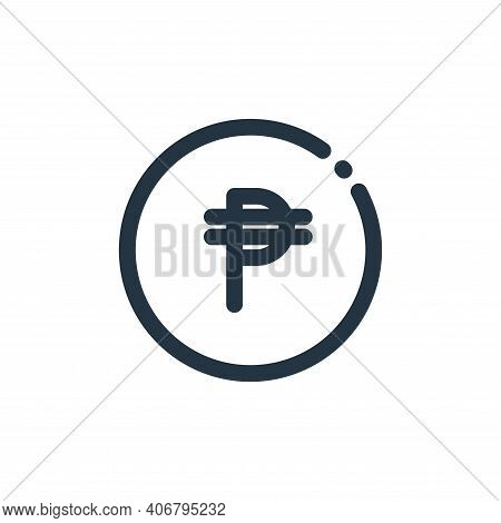 cuba icon isolated on white background from currency collection. cuba icon thin line outline linear