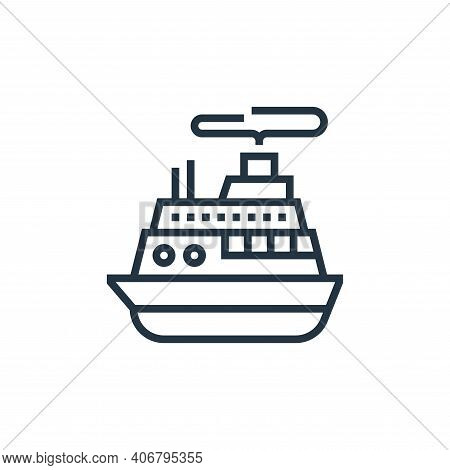 cruise icon isolated on white background from casino collection. cruise icon thin line outline linea