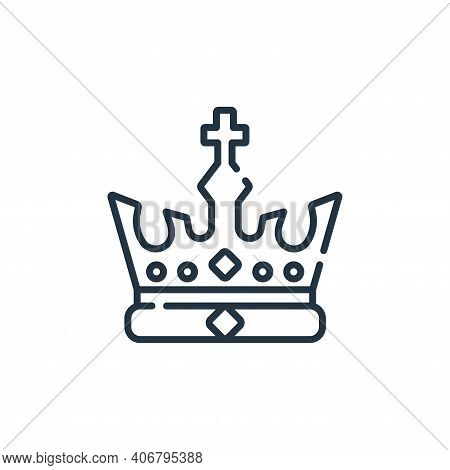 crown icon isolated on white background from england collection. crown icon thin line outline linear