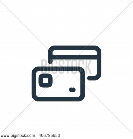 credit card icon isolated on white background from shopping collection. credit card icon thin line o